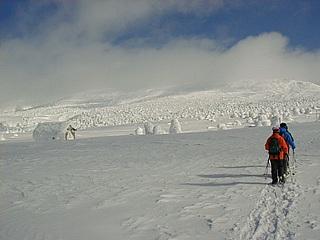 冬の刈田岳 8